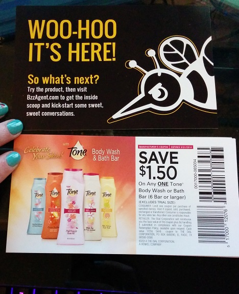 Tone Body Wash BzzAgent Coupons