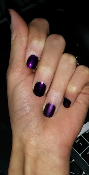 Urban Decay Nail Polish in Vice - applied