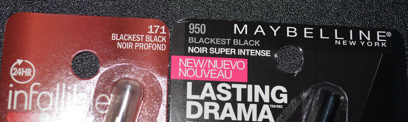 Drugstore Gel Liner Comparison - L'Oreal Infalliable Lacquer Liner 24Hour and Mabelline Eye Studio Lasting Drama Gel Liner