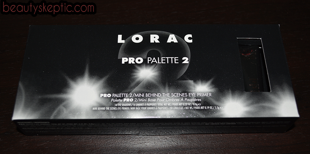 Lorac Pro 2 Retail Packaging - Front