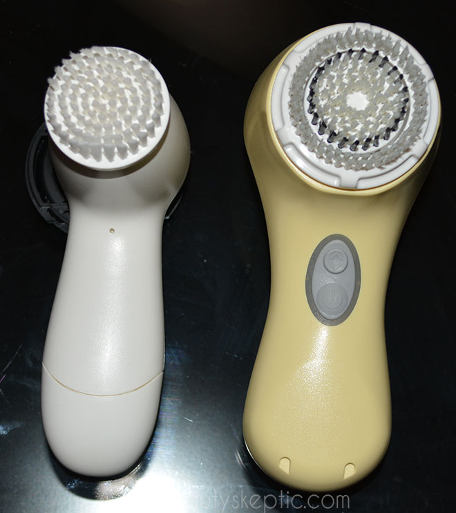 Clarisonic Mia 2 vs Olay Pro-X (Olay pictured left) - front