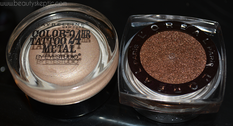 L'Oreal and Maybelline Gel Shadows - Packaging, Bottom