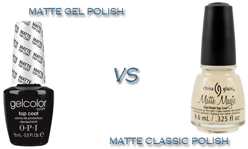 Matte Gel Polish vs. Matte Classic Polish