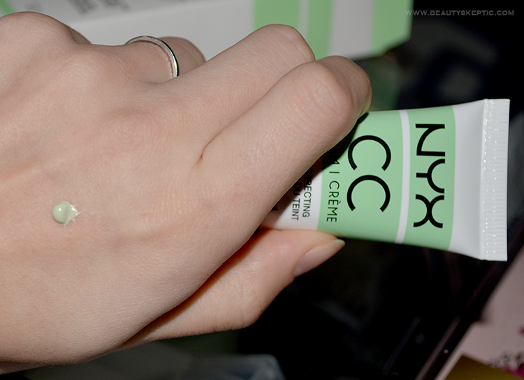 NYX Green CC Cream - Dispensed