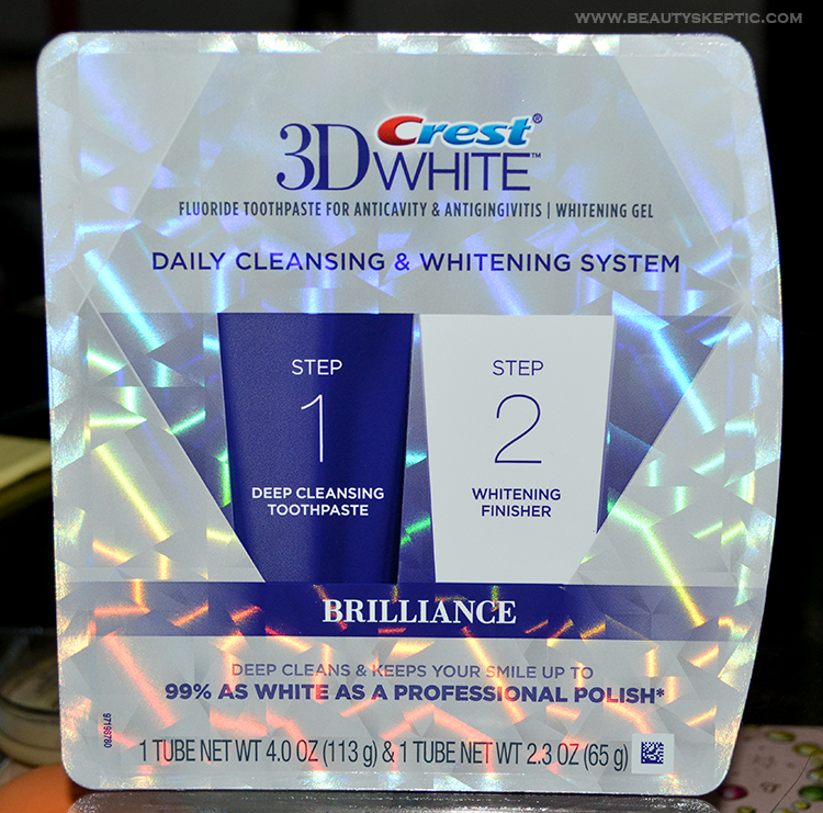 Crest 3D White Brilliance 2-Step System - Packaging