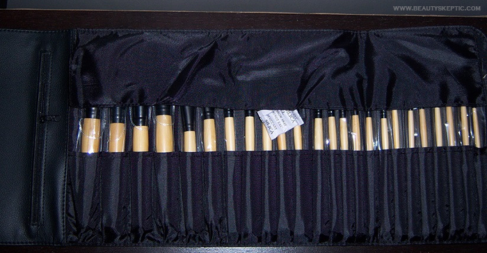 Coastal Scents Elite Brush Set - Brush Roll Partially Open