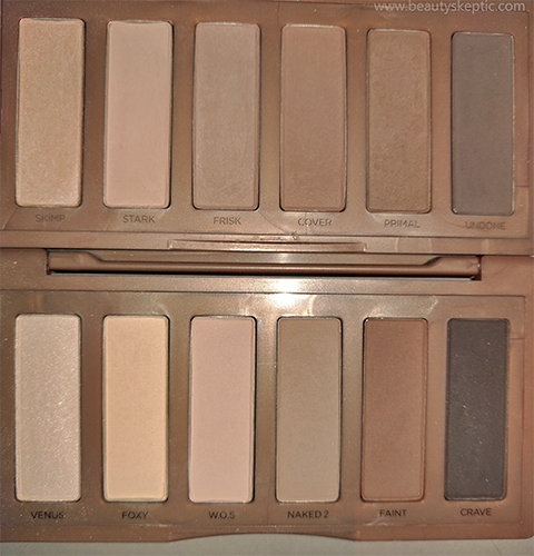 Naked Basics vs Naked2 Basics