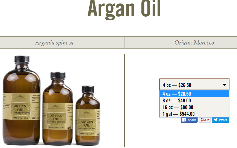 Mountain Rose Herbs Argan Oil
