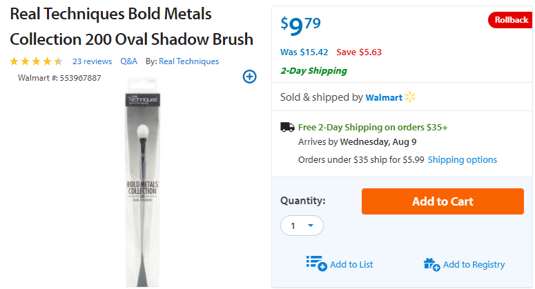Cool Beauty Products I've Seen Lately - Real Techniques Bold Metals on Sale at Walmart